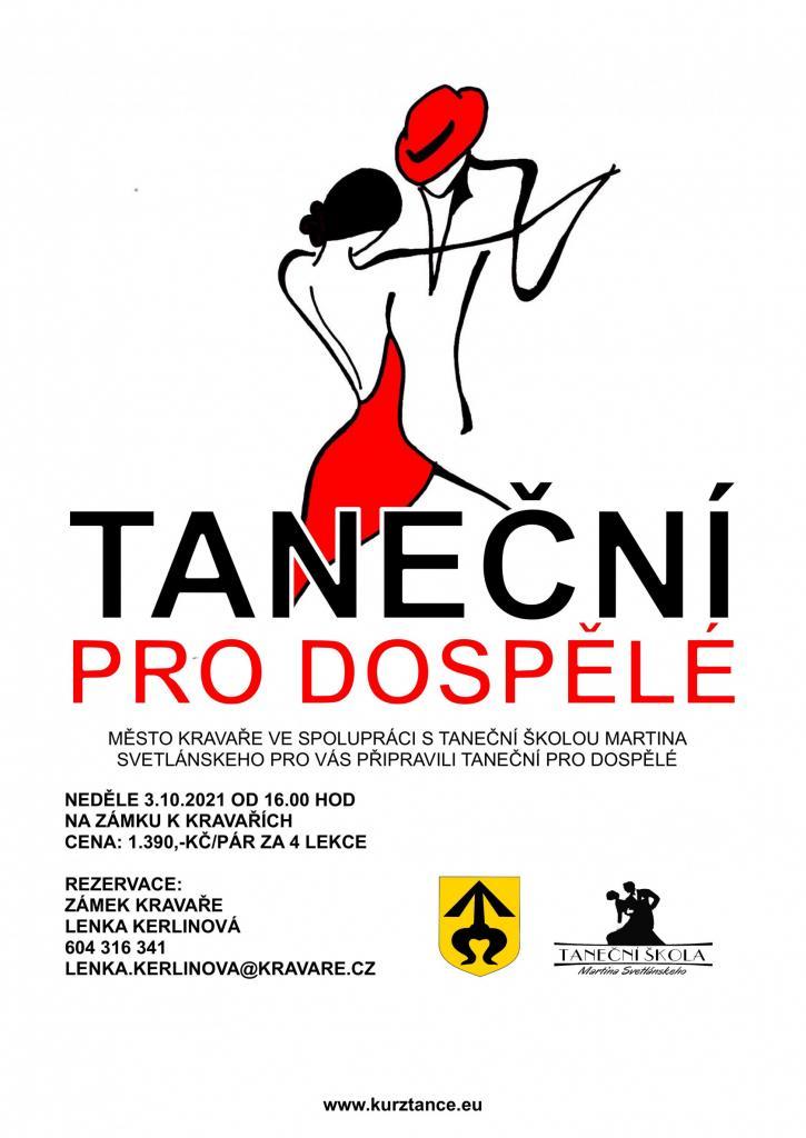 Taneční kurzy plakát